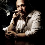 Dramatic Portrait of a man with cigar