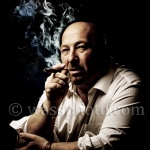 Dramatic Portrait of a man smoking