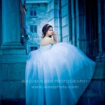 Cinderella bride blue dress