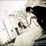 Wedding Couple in downtown Montreal