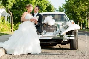 Lebanese couple near Limousine