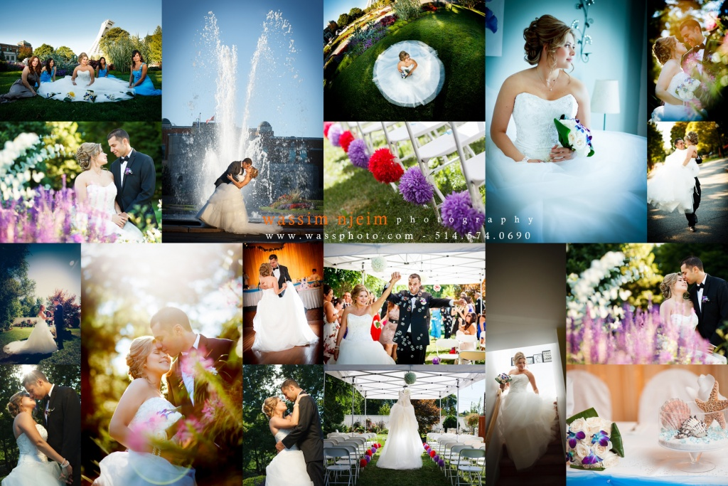 Photo Collage of a wedding couple