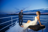 Montreal photographers - Wedding Couple on a boat