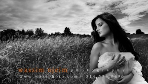 Semi-nude photography in Montreal fields