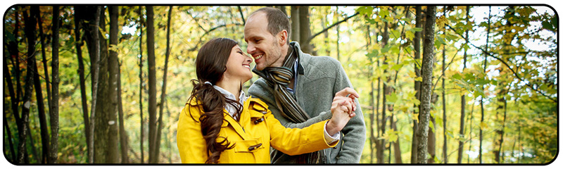 Couple in fall season