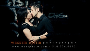 Couple kissing casual session
