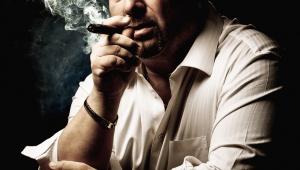 Man model smoking