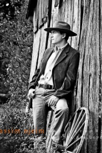 Male model with cowboy hat