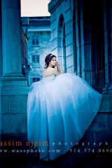 Bride in Cinderella dress Old Montreal