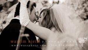 Wedding couple having an intimate moment