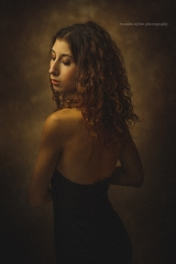 Model with curly hair artistic