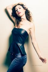 Model photo shoot in Jeans