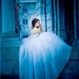 Cinderella Bride in Old Montreal