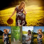 Maternity photo collage